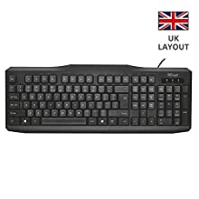 Trust ClassicLine UK tastiera USB QWERTY Inglese UK Nero