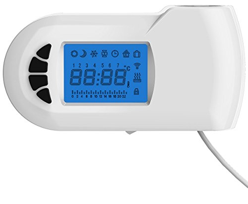 Heizstab elektrisch E700W für Badheizkörper - mit digitalem Thermostat in Weiß, Leistung:600 Watt
