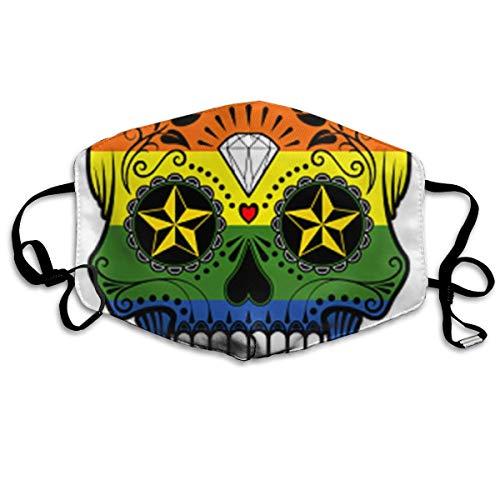 Funny&shirt Mundmaske mit Ohrschlaufe, bequemes Polyester, atmungsaktiv, Totenkopf-Design, verstellbar, elastisches Band, winddicht, wiederverwendbar und waschbar (Waschbar Haar Farbstoff)