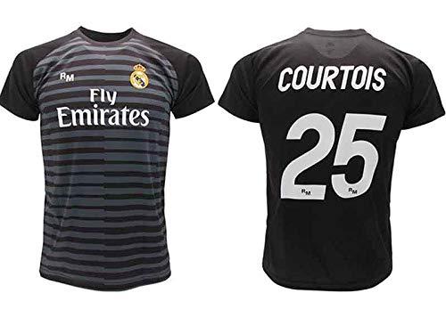 Maglia Courtois Real Madrid Portiere Nera Thibaut 2018 2019 in Blister  Regalo 25 Adulto Bambino ( 8759023fe053e