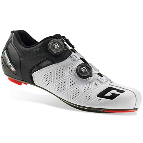 Gaerne Carbon G. Stilo+ Scarpe Road Ciclismo, White/Black - Bianco, 42.5