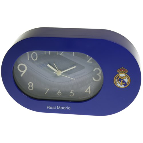 Seva Import Real Madrid Despertador Oval, Unisex, Azul, Talla Única