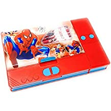 Disney & Marvel Plastic Pencil Box with Princess, Cinderella, Spiderman and Avengers Characters (Multicolour)