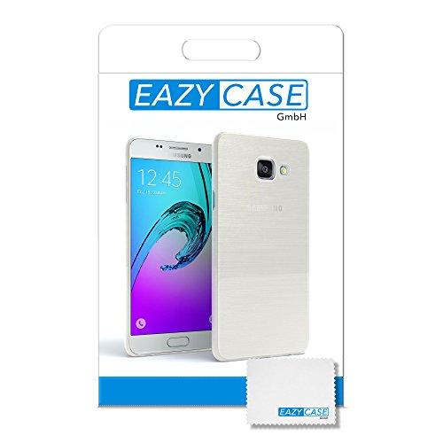 Samsung Galaxy A3 (2016) Hülle - EAZY CASE Ultra Slim Cover Handyhülle - dünne Schutzhülle aus Silikon in Transparent Brushed Weiß