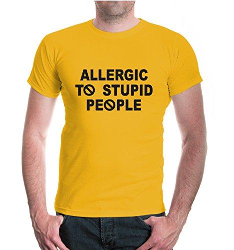 buXsbaum® T-Shirt Allergic to stupid people Sunflower-Black