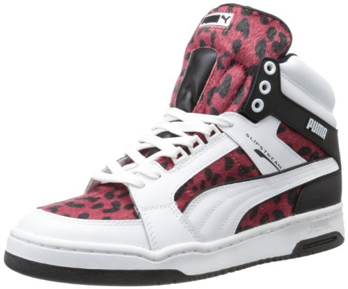 Puma Slip Stream A Uomo Pelle Scarpe ginnastica Taglia White/Red