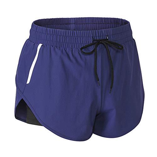 Ohwens Women Quick Drying Shorts Night Reflective Strips Fitness Sports Short Pants -