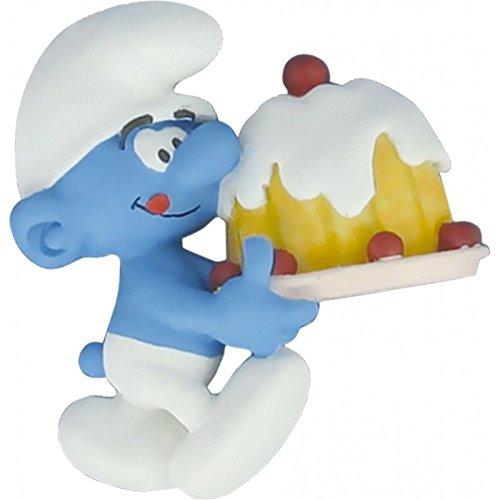 Plastoy SAS PLA70028 - Sammelfiguren, Magnet Schlumpf mit Torte (Schlumpf-kuchen)