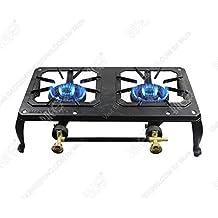 BACOENG hierro fundido quemador de gas hirviendo anillo estufa al aire libre Camping/Picnic Cocinar..., Double Gas Stove