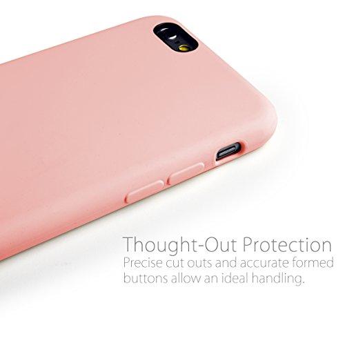 MyGadget TPU Silikon Hülle für - Apple iPhone 6 / 6s - ultra dünn (1 mm) inkl. Staubschutz Gummi Schutzhülle Cover Crystal Case Silikonhülle in Grau Gummiert Rosa