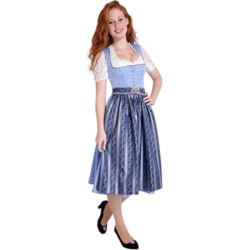 Midi Dirndl Evi in Hellblau von Apple of my Eye Hellblau