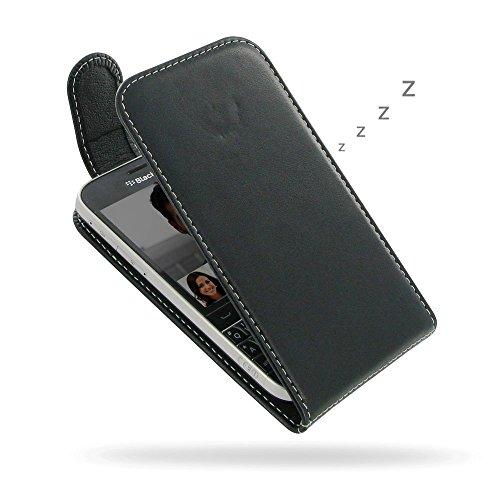 Flip-top-blackberry (PDair BlackBerry Classic Leder Flip Tasche, [Echt Weiches Leder] Folio Magnetverschluss Tasche | Luxus Deluxe Leder Flip Top Hülle für BlackBerry Classic)
