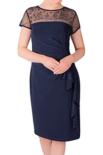 Joseph Ribkoff Women's Short Sleeve Dress Blue * One Size