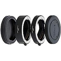 JJC 10mm/16mm Sets Metal Tubo de Extensión TTL Enfoque Automático AF para Lentes Sony E y Cámaras de la Serie NEX etc.