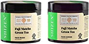 SHIZEN Fuji Matcha Green Tea Face Mask (100gm) /Fuji Matcha Green Tea face scrub (100gm)/100% Organic