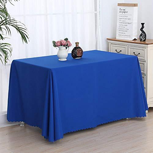 SKSK Blaue Tischdecke Ausstellungshalle Tischdecke Ausstellung Veranstaltung Schild Tischdecke Büro Konferenztischdecke Set 120 × 120cm