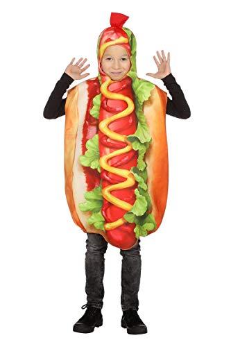 Hotdog Kinder one Size - Hot Dog Kostüm Kinder