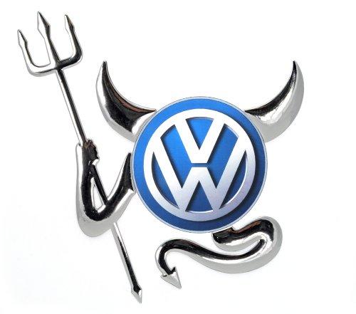 Incutex Autosticker Autoaufkleber Teufel Auto Logo car sticker devil tuning, silber