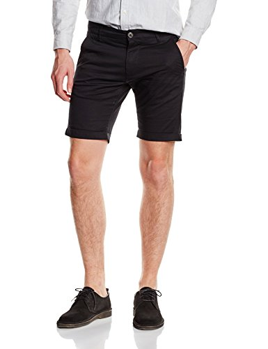 SELECTED HOMME Herren Chino Shorts, SHHPARIS BLACK ST SHORTS , Gr. M , Schwarz (Black)