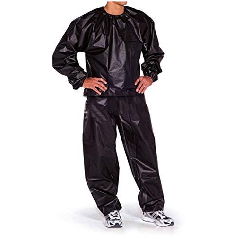 Heaviesk Saunaanzug aus PVC, wasserfest, Rutschfest, für Training und Fitness, Gewichtsverlust, Sport, Sauna-Kleidung, einfarbig, Turnanzug