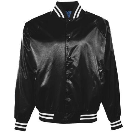 Augusta Sportswear Hommes de satin veste de baseball, Homme, Noir/blanc