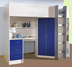 mrsflatpack m227wb lit superpos haut blanc bleu cuisine maison. Black Bedroom Furniture Sets. Home Design Ideas