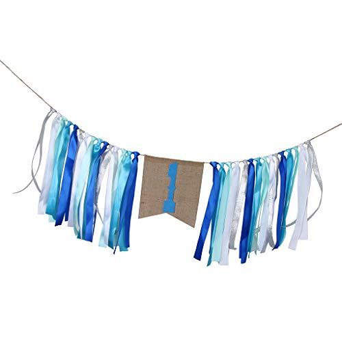 burtstag Banner Girlande für Wohnkultur und Foto Requisiten - Blau ()