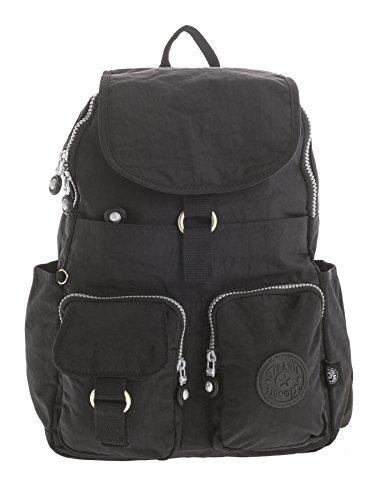 Imagen de big handbag shop  bolso  de tela para mujer negro backpack style 3  black