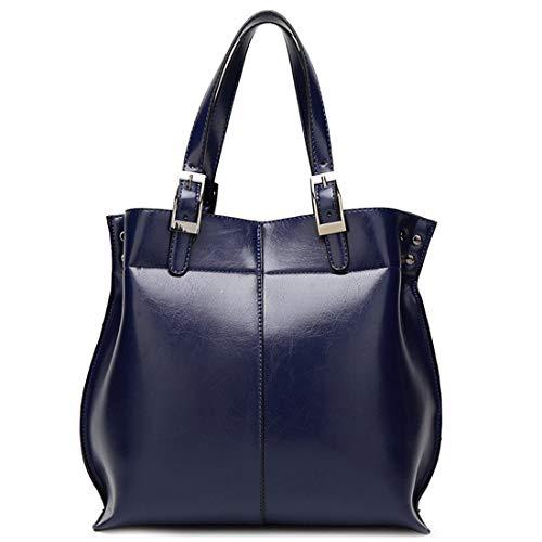 Betrothales Damen Shopper Tote Frame Handtasche Casual Chic Henkeltasche Umhängetasche Schultertasche (Blue) Shoulder Bag Mädchen Vintage Elegant Festlich Taschen (Color : Blau, Size : One Size)