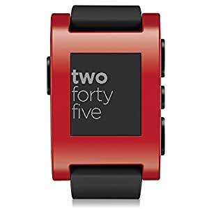 "Pebble Classic - SmartWatch (pantalla 1.26"", Bluetooth, 128 KB, ARM Cortex-M3), color rojo"