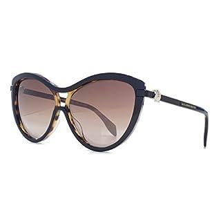 Alexander McQueen Kultige Totenkopf Cateye Sonnenbrillen in schwarz auf Havanna AM0021S 001 58 58 Brown Gradient