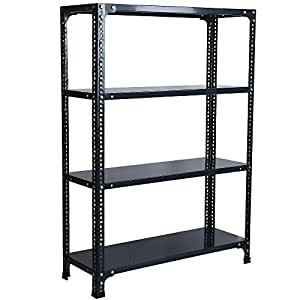 Mil-Nil® Prime CRC Sheet 4 Shelf Multipurpose Storage Rack, 48 x 36 x 12 Inch, 24 Gauge (Grey)