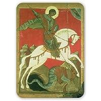 Icona di S. Giorgio e il drago (tempera..–Tappetino per il mouse in gomma naturale di alta qualità il mouse–Tappetino per il mouse
