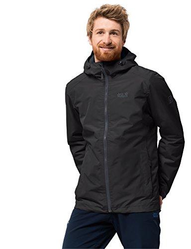 Jack Wolfskin Herren Chilly Morning Men Winterwanderjacke Wasserdicht Winddicht Atmungsaktiv Wetterschutzjacke, schwarz, L
