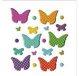 Artemio Farfalle Set di 20fermacampioni arabesco, metallo, multicolore, 9,5x 1x 13,8cm