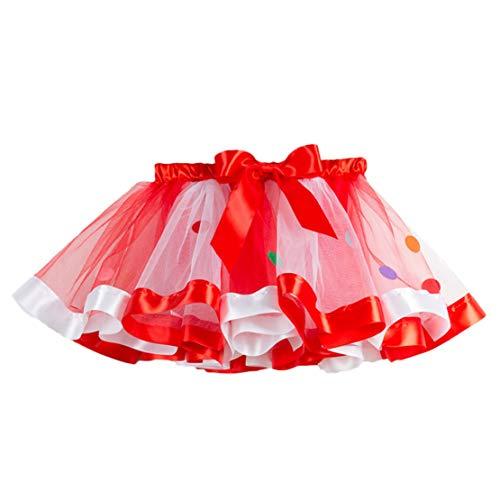 Happy Event Christmas Weihnachten Mädchen Kinder Tutu Weihnachtsfeier Tanz Ballett Kleinkind Rainbow Baby Kostüm Rock (Mehrfarbig, 2-4 Jahre-S)