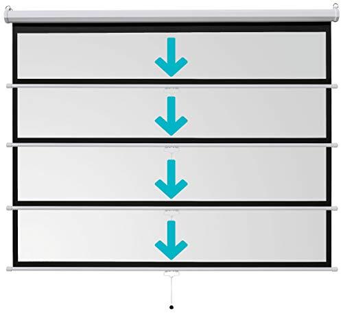 ivolum Rolloleinwand 200 x 150cm Nutzfläche | Format 4:3 | Als Heimkino-Leinwand oder Business-Leinwand einsetzbar | einfach Montage und Bedienung | Beamer-Leinwand in verschiedenen Größen erhältlich - 5