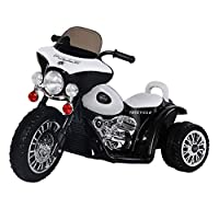 Guaranteed4Less Kids 6v Ride On Police Battery Bike Trike Motorbike 3 Wheel Motor Cycle Tricycle