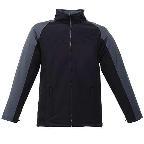 Regatta Uproar Herren Softshell Fleece-Jacke, windabweisend (XL) (Schwarz/Grau) Ite Pullover Hoodie