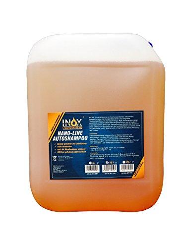 INOX Nano Line Autoshampoo, 10L - Car Shampoo mit Abperleffekt