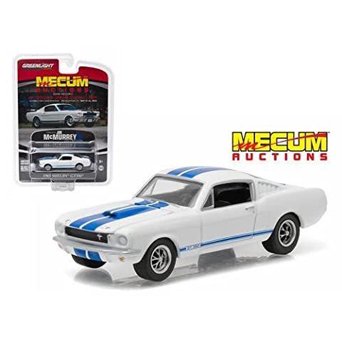 1965 Ford Shelby Mustang GT350 Fastback White Mecum Exclusive Limited Edition to 1008pcs 1/64 by Greenlight 51047