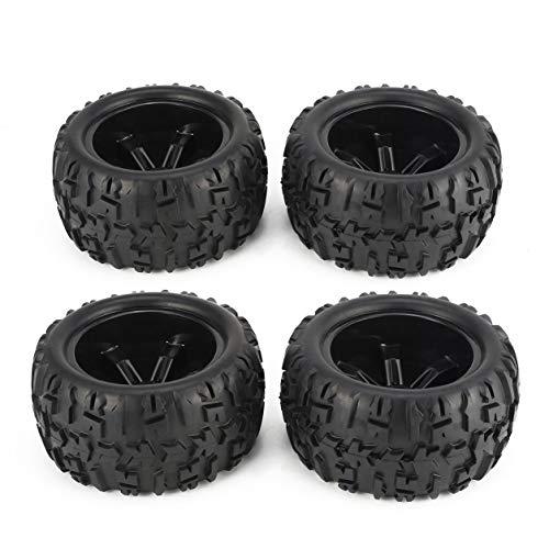Dailyinshop 4Pcs 150mm Radfelge und Reifen für 1/8 Monster Truck Racing RC Autozubehör
