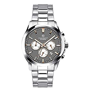 Accurist Men's Quartz Watch with Grey Dial Chronograph Display and Silver Stainless Steel Bracelet 7203