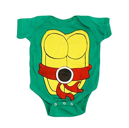 Teenage Mutant Ninja Turtles Infant Baby Onesie Romper Costume (Red-12 Months) (Halloween Ninja-turtle)