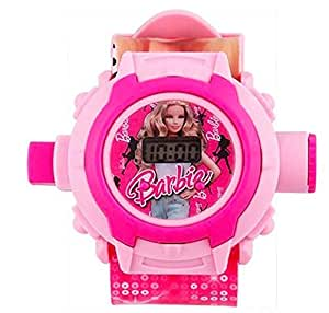 Generic Digital 24 Images Projector Watch for Kids, Diwali Gift, Birthday Return Gift (Color May Vary) (Barbie Watch)