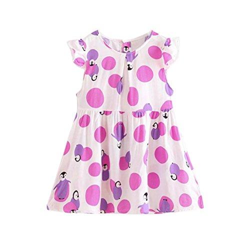 Internet Summer Girl Dress Toddler Princess Party Cartoon Print Tutu Dress For 3-7 Age