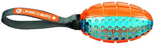 Trixie 33550 Push to mute, Rugby am Gurt, 12 cm/27 cm, orange/blau