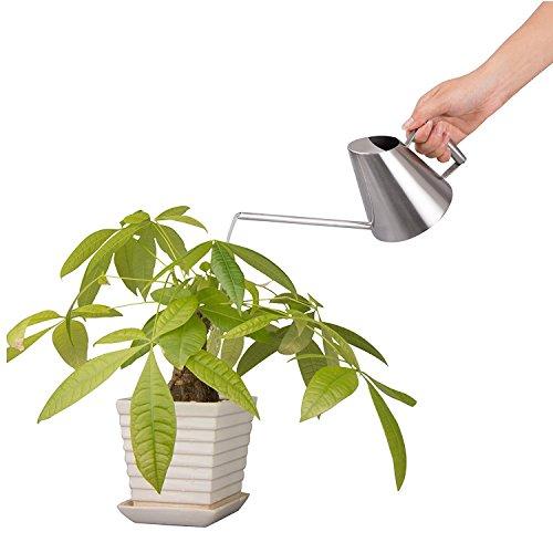 Reze Verdickte Edelstahl gebürstet Gießkanne Garden Plant Flower Pot 400ml