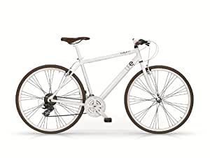 Bicicletta uomo Hybrid ibrido 28 Life bianca alluminio MBM