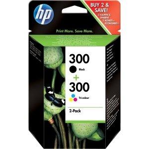 Original Tinte passend für HP DeskJet D 2500 Series HP 300 CN637EE - 2x Premium Drucker-Patrone - Schwarz, Cyan, Magenta, Gelb - 2 x 4 ml - 2600 Series Hp Drucker-tinte